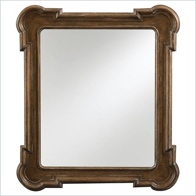 Stanley Furniture European Farmhouse Fluted Edge Mirror in Blond
