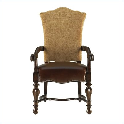 Stanley Furniture Grand Continental Padrona Upholstered Arm Chair in Antique Terra Finish