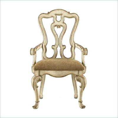 Stanley Furniture Grand Continental Florentine Arm Chair in Antique Panna Finish