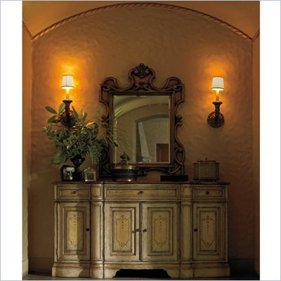 Stanley Furniture Grand Continental Ornamental Mirror in Antique Florentine Gold Finish