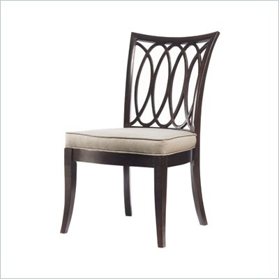 Stanley Furniture Hudson Street  Fabric Side Chair in Dark Espresso Finish