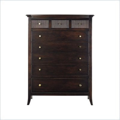 Stanley Furniture Hudson Street 8 Drawer Chest in Dark Espresso Finish