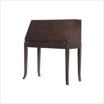 Stanley Furniture Hudson Street Mercantile Drop Front Wood Desk in Dark Espresso