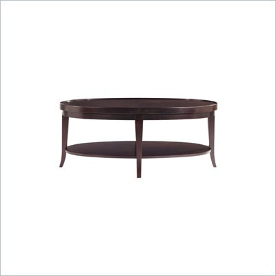 Stanley Furniture Hudson Street Dark Espresso Oval Wood Top Cocktail Table