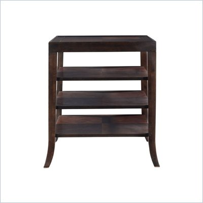 Stanley Furniture Hudson Street Dark Espresso End Table with Shelves