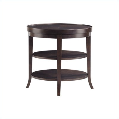 Stanley Furniture Hudson Street Dark Espresso Round End Table with Shelves