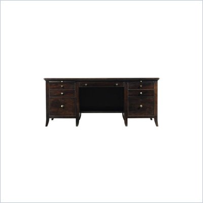 Stanley Furniture Hudson Street Wood Executive Computer Desk in Dark Espresso
