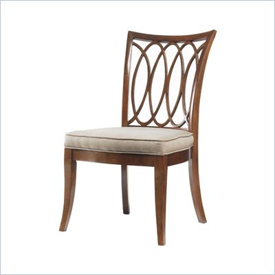 Stanley Furniture Hudson Street  Fabric Side Chair in Warm Cocoa Finish
