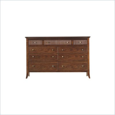 Stanley Furniture Hudson Street Warm Cocoa Tribeca 9 Drawer Double Dresser