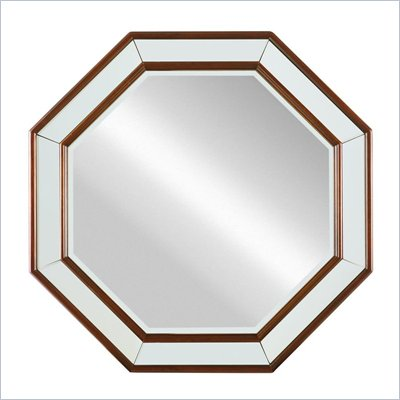 Stanley Furniture Hudson Street Warm Cocoa Octagonal Mirror