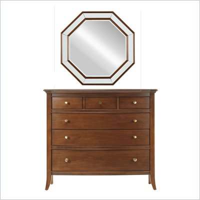 Stanley Furniture Hudson Dresser and Mirror Set in Warm Cocoa