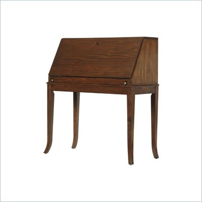 "Stanley Furniture Hudson Street 39"" Mercantile Drop-Front Wood Secretary Desk in Warm Cocoa"