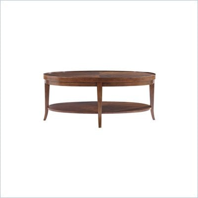 Stanley Furniture Hudson Street Oval Wood Cocktail Table in Warm Cocoa