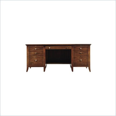 Stanley Furniture Hudson Street Warm Cocoa Executive Desk