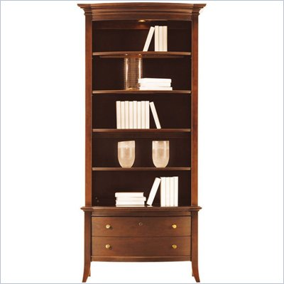 Stanley Furniture Hudson Street Warm Cocoa Curved Front Bookcase