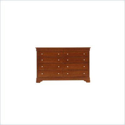 Stanley Furniture Louis Louis 10 Drawer Cherry Double Dresser in Grand Marnier