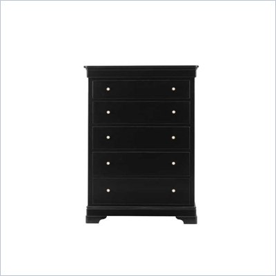 Stanley Furniture Louis Louis 8 Drawer Chest in Black Opal Finish