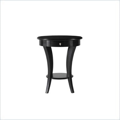 Stanley Furniture Louis Louis Black Opal Round Martini End Table