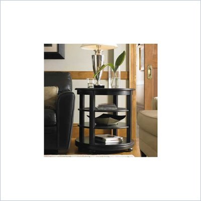 Stanley Furniture Louis Louis Black Opal Looking Glass Birch End Table