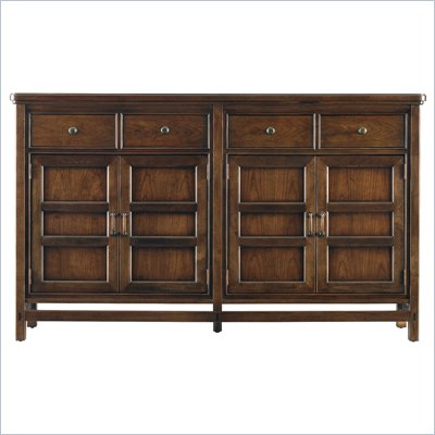 Stanley Furniture Modern Craftsman Midcentury Buffet in Saddle