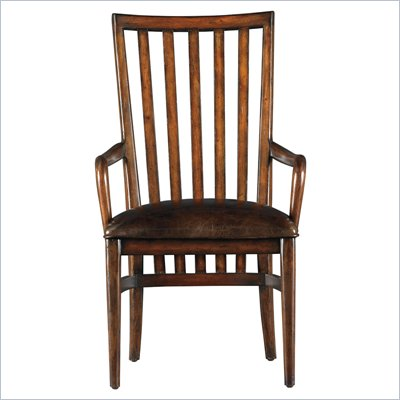 Stanley Furniture Modern Craftsman Farms Arm Chair in Saddle