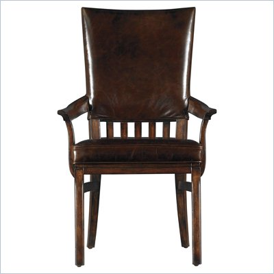 Stanley Furniture Modern Craftsman Morris School Arm Chair in Saddle