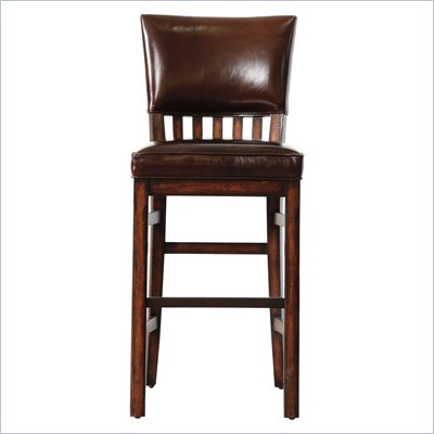 Stanley Furniture Modern Craftsman Morris School Bar Stool in Tobacco