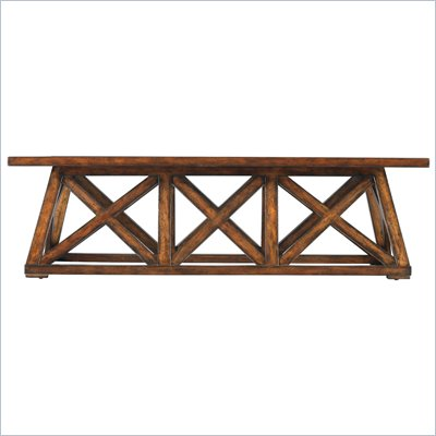 Stanley Furniture Modern Craftsman Manhattan Low Bridge Table