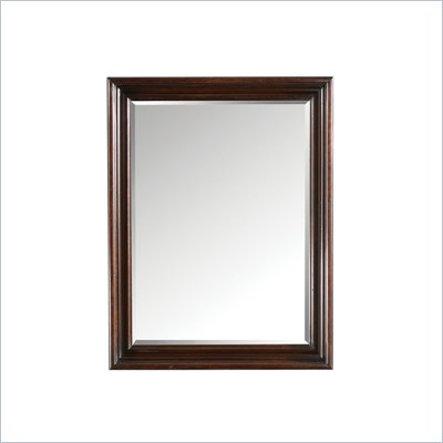 Stanley Furniture British Colonial Landscape Mirror in Dark Shell