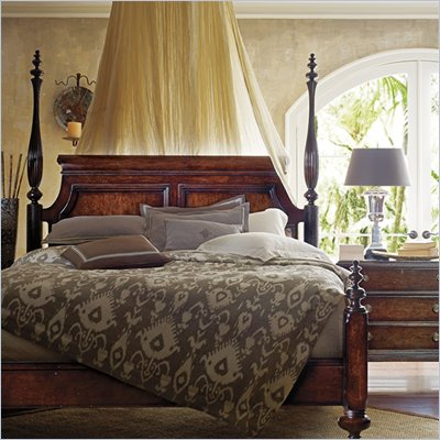 Stanley Furniture British Colonial Poster Bed in Dark Shell