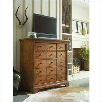 Stanley Furniture Portfolio Bedroom Bungalow Media Chest in Straw
