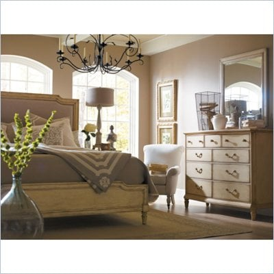 Stanley Furniture Portfolio European Cottage Dressing Chest and Mirror in White