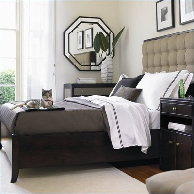 Stanley Furniture Signatures Avenue Upholstered Low Profile Bed in Dark Espresso Finish