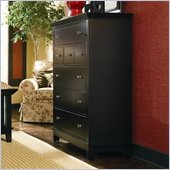 American Drew Sterling Pointe 5 Drawer Chest in Black Finish