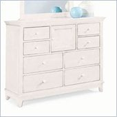 American Drew Sterling Pointe 8 Drawer Double Drawer in Off-White Finish