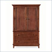 American Drew Sterling Pointe Door Chest Armoire in Cherry
