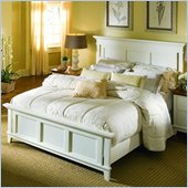 American Drew Sterling Pointe King Size Panel Bed in Off-White Finish