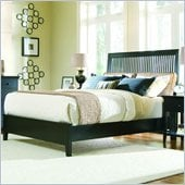 American Drew Sterling Pointe Slat Bed in Black Finish