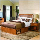American Drew Sterling Pointe Underbed Storage Platform Bed in Maple Finish