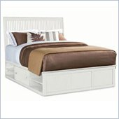 American Drew Sterling Pointe Underbed Storage Platform Bed in Off-White Finish