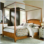 American Drew Sterling Pointe Poster Bed in Maple Finish
