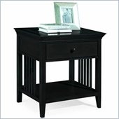 American Drew Sterling Pointe Single Drawer Nightstand in Black