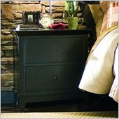 American Drew Sterling Pointe Two Drawer Nightstand in Black