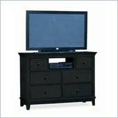 American Drew Sterling Pointe Fully Assembled TV Stand in Black Finish