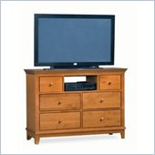 American Drew Sterling Pointe Fully Assembled TV Stand in Maple Finish