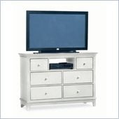 American Drew Sterling Pointe Fully Assembled TV Stand in Off-White Finish