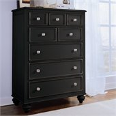 American Drew Camden Black 5 Drawer Chest