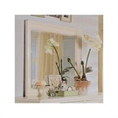 American Drew Camden Landscape Mirror in Buttermilk Finish