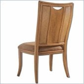 American Drew Antigua Splat Back Casual Side Chair in Toasted Almond Finish