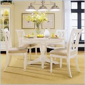 American Drew Camden Round Casual Dining Set in Buttermilk Finish